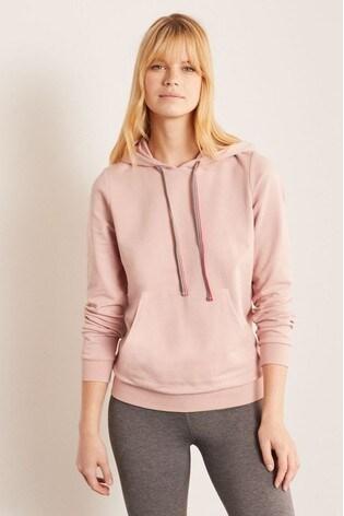 Boden Pink Oriel Hooded Sweatshirt