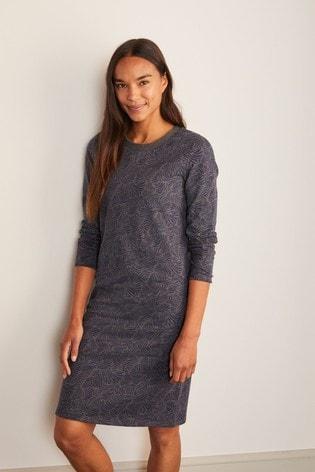 Boden Grey Sweatshirt Dress