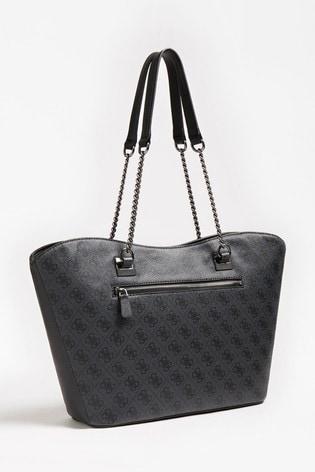 Guess Black Logo Mika Tote Bag