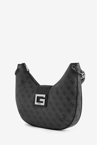 Guess Black Logo Large Brightside Shoulder Bag