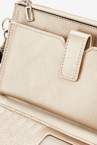 Guess Nude Uptown Zip Clutch Bag