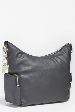 Guess Black Destiny Hobo Shoulder Bag