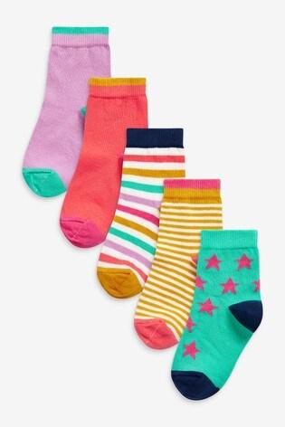 Bright 5 Pack Ankle Socks