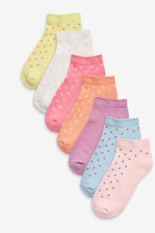 Pin Dot 7 Pack Trainer Socks