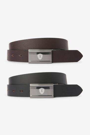 Black/Brown Leather Belt