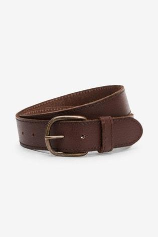 Brown Signature Italian Leather Belt
