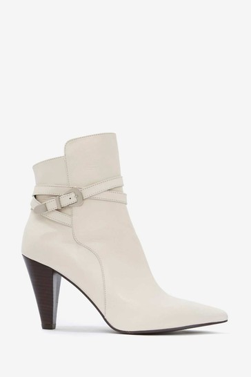 Mint Velvet Cream Piper Off-White Leather Boots