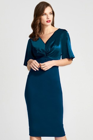 HotSquash Blue Emma Dress With Buttons