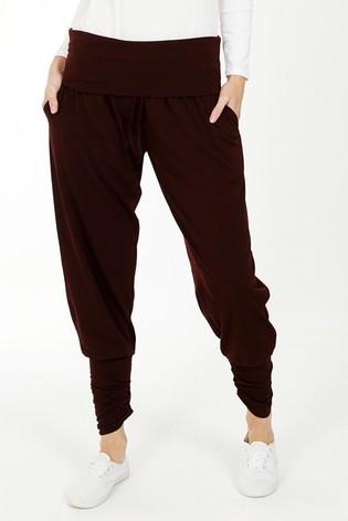 HotSquash Brown Roll Top Harem Trousers
