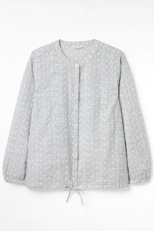 White Stuff Denim Dazy Drawstring Shirt