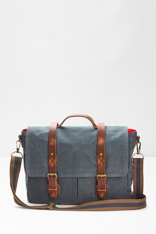 White Stuff Blue Scout Organic Cotton Messenger Bag