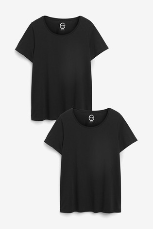 Black 2 Pack Crew Neck T-Shirt