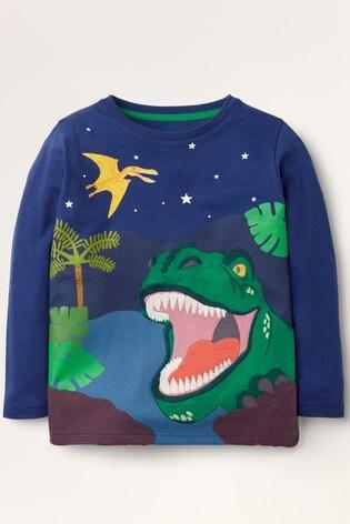 Boden Blue Adventure Appliqué T-Shirt