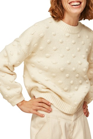 Whistles Ivory Bobble Knitted Jumper