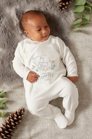 Personalised 'Mummy' Sleepsuit