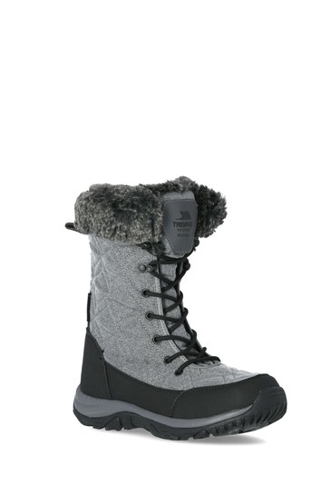 Trespass Grey Esmae - Cosy Snow Boots