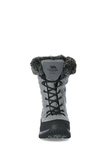 Trespass Grey Esmae - Cosy Snow Boots