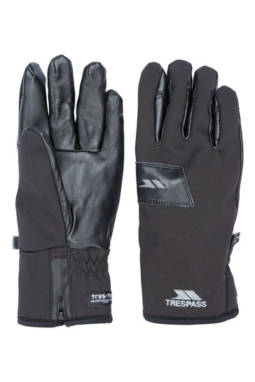 Trespass Black Alpini - Unisex Adult Gloves