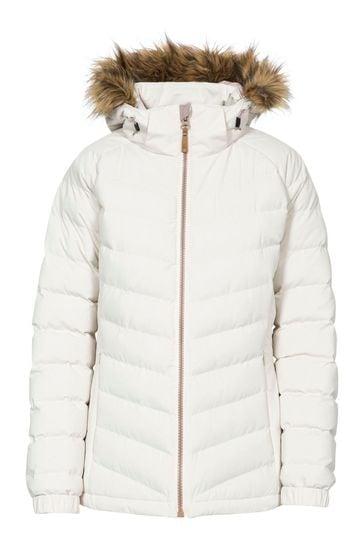 Trespass White Nadina - Female Padded Jacket