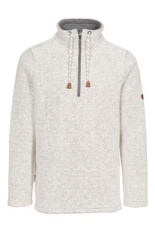Trespass White Falmouthfloss Male Casual Sweater