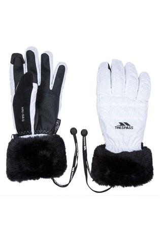 Trespass White Yanki Female Gloves