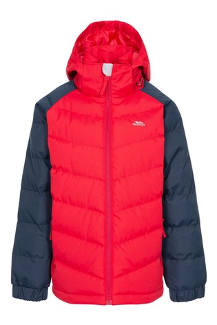 Trespass Red Sidespin Male Padded Jacket