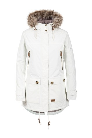Trespass White Clea B Female Jacket