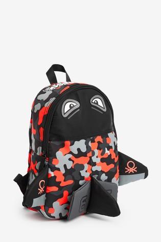 Benetton Camouflage Shark Backpack