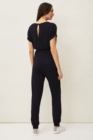 Phase Eight Black Perrie Soft Jersey Jumpsuit