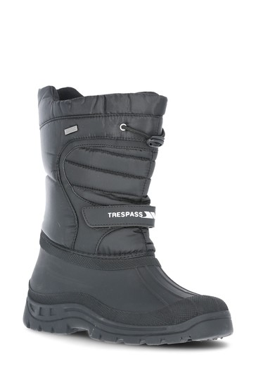 Trespass Black Dodo Adult Snow Boots