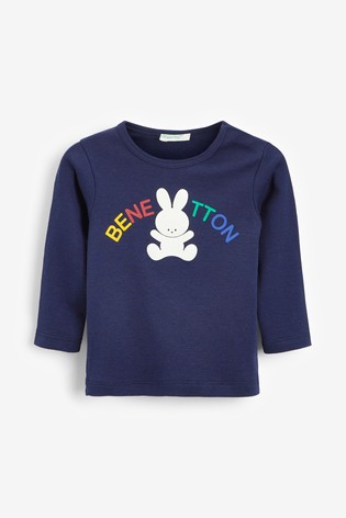 Benetton Long Sleeve Bunny Top