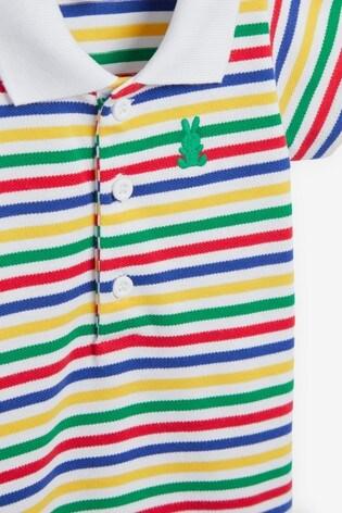 Benetton Striped Polo Bodysuit