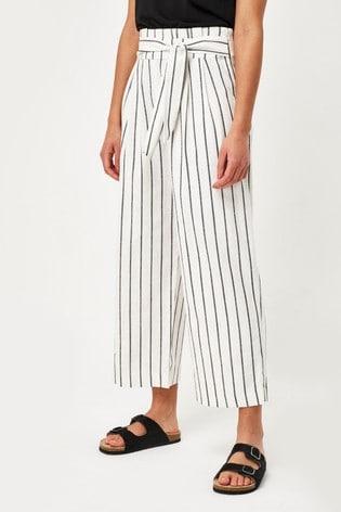 Black/White Stripe Linen Trousers