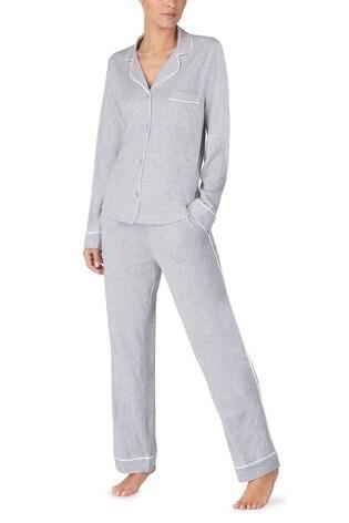 DKNY Signature Grey Notch Collar Pyjama Set