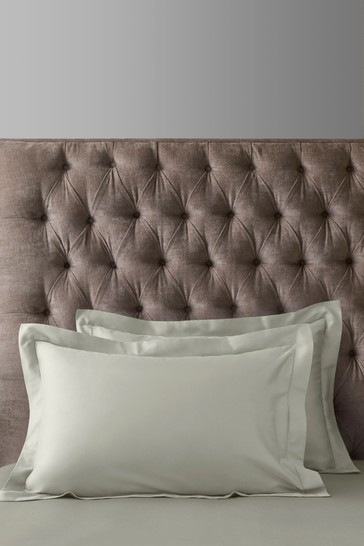 Set of 2 Mink Natural 300 Thread Count Collection Luxe 100% Cotton Pillowcases