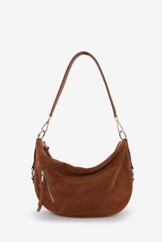 Mint Velvet Harriet Tan Suede Shoulder Bag