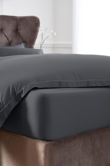 Extra Deep Fitted 600 Thread Count 100% Cotton Sateen Collection Luxe Sheet