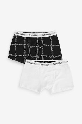 Calvin Klein Black Modern Cotton Next Exclusive Trunks Two Pack