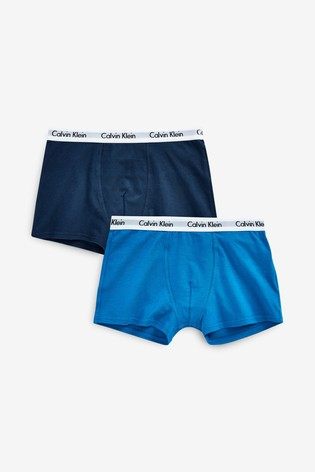 Calvin Klein Blue Modern Cotton Next Exclusive Trunks Two Pack