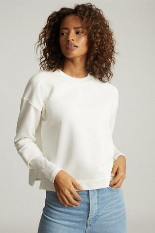 Reiss Abela Cropped Sweatshirt