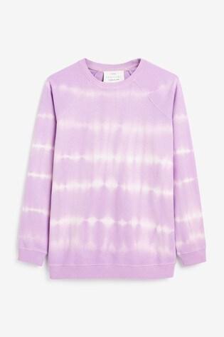 Lilac Tie Dye Cotton Sweat Lounge Top