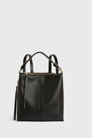 AllSaints Black Lawrence Leather Backpack