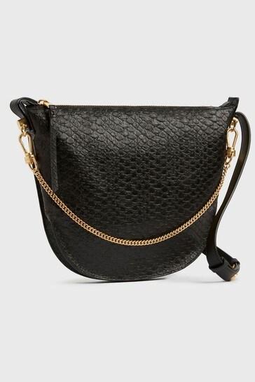 AllSaints Black Blake Leather Shoulder Bag