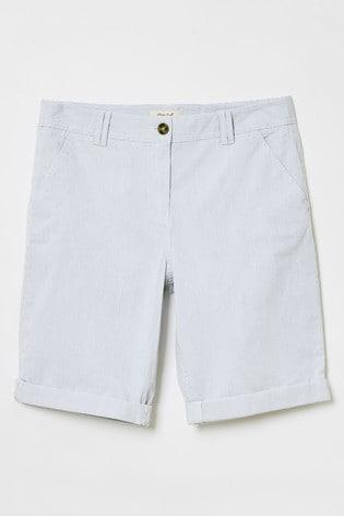 White Stuff Blue Helter Skelter Shorts
