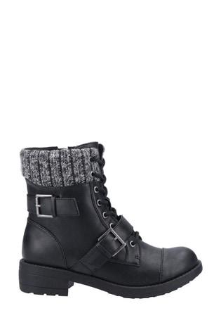 Rocket Dog Black/Black Travis Biker Boots