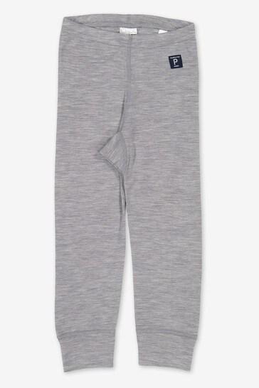 Polarn O. Pyret Grey Soft Rws Merino Thermal Long Johns