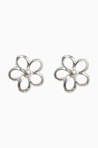 Sterling Silver Dainty Flower Stud Earrings