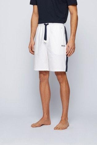 BOSS White Heritage Shorts