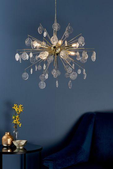 Gallery Direct Gold Tara 8 Light Pendant Light