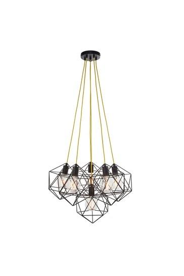 Gallery Direct Black Sisosa 1 Bulb Pendant Light